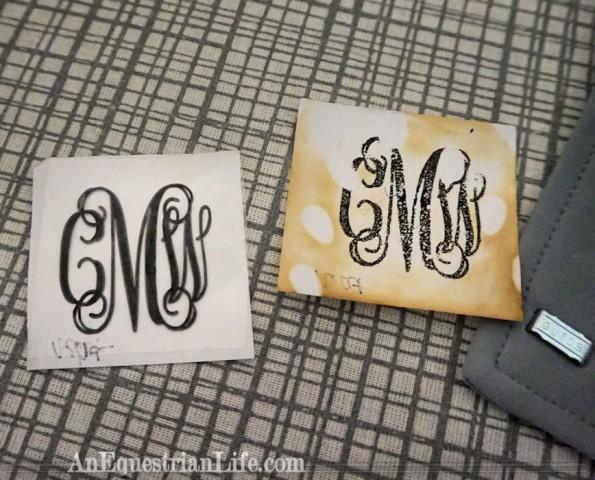 swanky saddle monograms