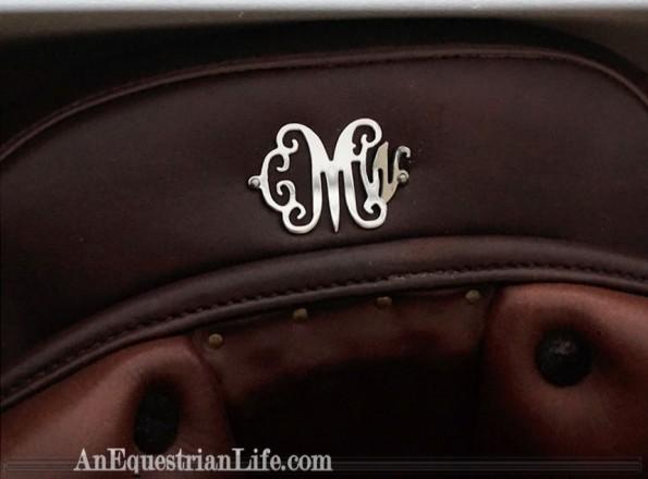 swanky saddle plate monogram