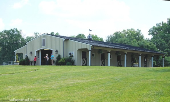 The upper broodmare barn. Not clear if there is a lower broodmare barn.
