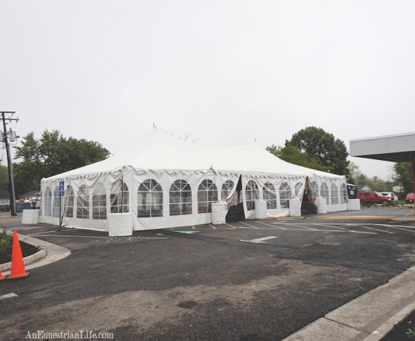If you are wondering why the tent is empty, it's because this was taken as they were packing up, not when the party happened.