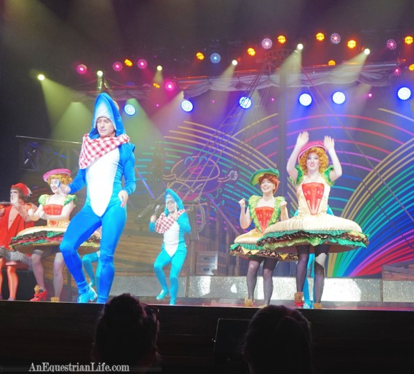 Columbus! The Musical, included sharks and dancing cheeseburgers.