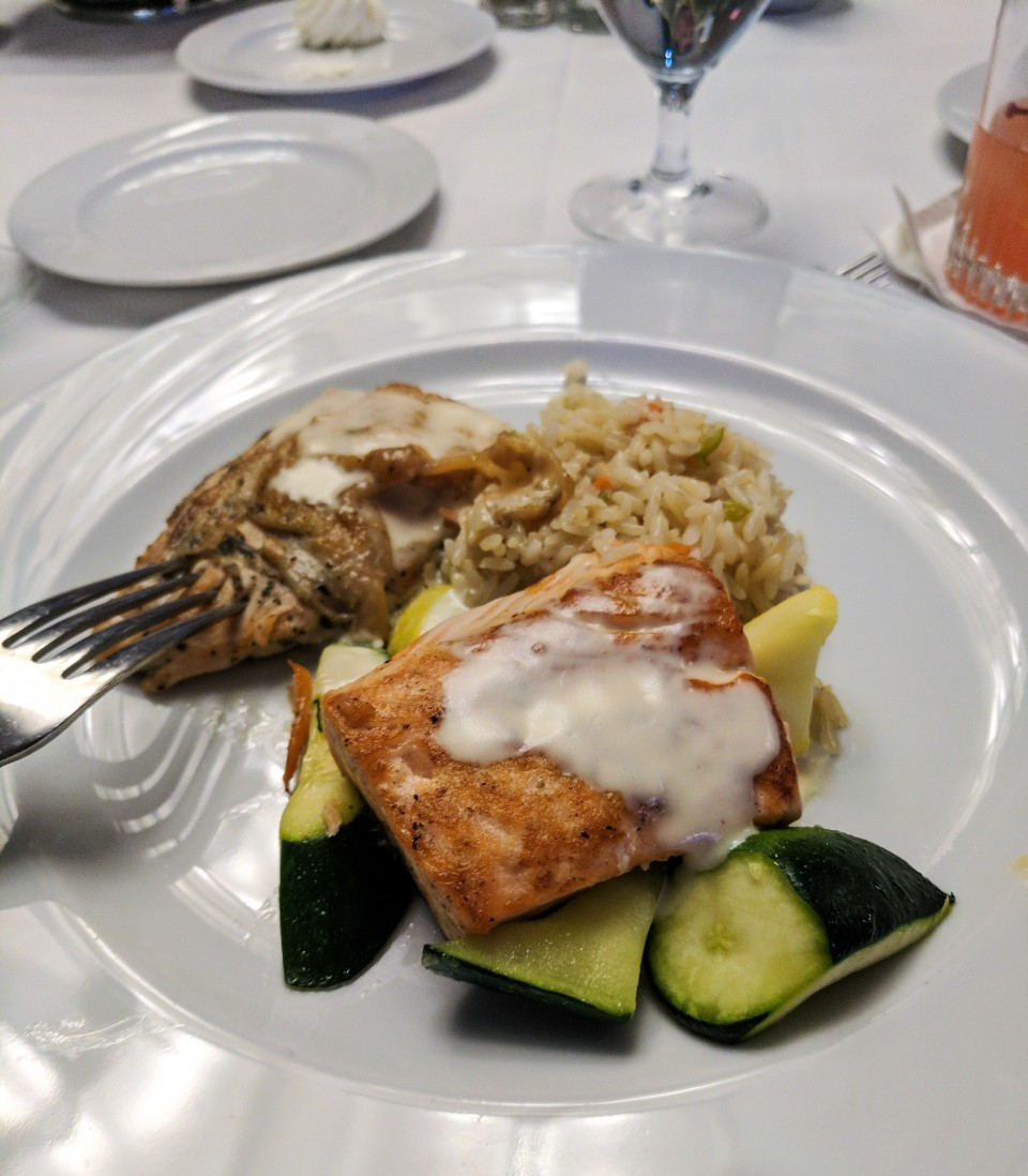 Salmon!? I distinctly asked for lobster frittala!
