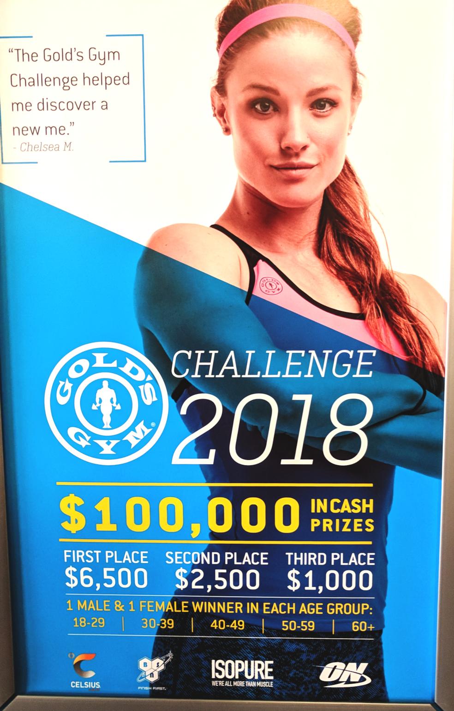 challenge 2018 gold's gym