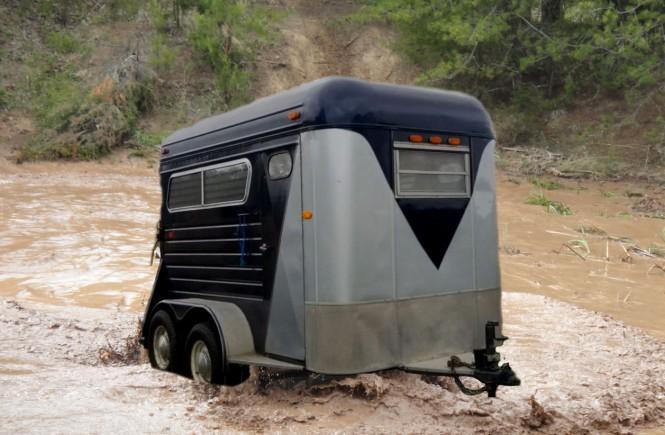 trailer sinking in mud